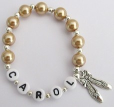 Personalized Ballet Jewelry Golden Champagne Pearl Bracelet - $10.78