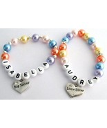 Little Girls Name Bracelet Big Sister Little Si... - $18.58