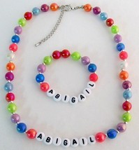 Toddler Infant Jewelry Personalized Necklace and Bracelet - $15.98