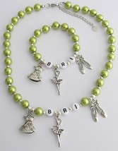 Ballet Jewelry Personalized Necklace & Bracelet Ballet Charms Jewelry - $19.88