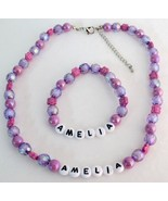 Personalized Necklace Bracelet Holiday Gift Pur... - $14.68