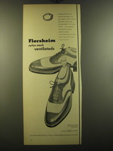 1950 Florsheim Advertisement - The Kenmoor U-Wing Mesh Ventilated Shoe S-1253 - $14.99