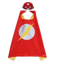 TPDT* Style 9 Kids Superhero Capes Super Hero Cape And Mask Party Suppli... - £15.63 GBP