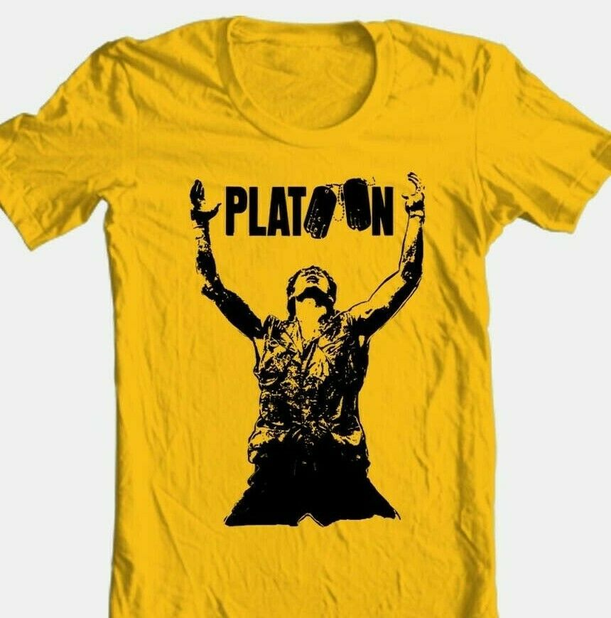 Platoon movie t shirt vintage 1980 s classic movie 100  cotton graphic tee