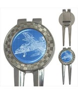Technical Drawing Of Aircraft 3-in-1 Golf Divot Tool - $11.63