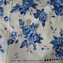 "Vintage Cloth World ""Wedge Wood"" Glazed Cotton ... - $125.00"