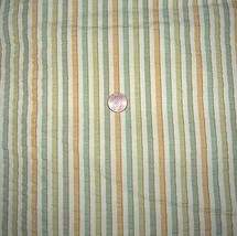 Vintage Striped Cotton Seersucker Fabric Draper... - $30.00
