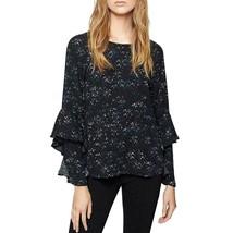 Sanctuary Womens Moonchild Black Ruffle Sleeve Star Print Top Sizes XS, ... - €12,36 EUR+