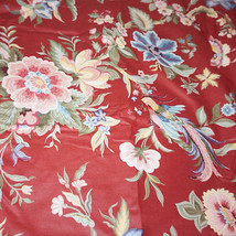 Vintage French Country SHANTUNG Floral Cotton D... - $150.00
