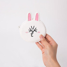 LINE Friends CONY Mini Face Coin Purse Wallet Naver Character Pouch Bag ... - €15,63 EUR