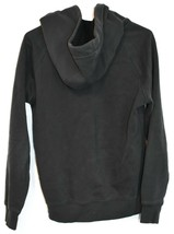 adidas Originals Women's Dark Gray Logo Graphic Hooded Hoodie Sweatshirt Size M image 2