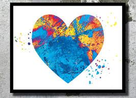 ? Blue Heart Watercolor Art Print Love art A3 - $32.00