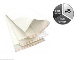 1000 #5 10.5x16 USA White Kraft Bubble Mailer Padded Envelope 10x16 Mail... - $313.58