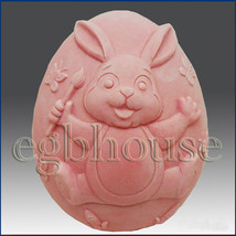 2D silicone Soap/polymer/clay/cold porcelain mold- Bunny Paints The Town - $21.78
