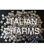100 New Italian Charm Bracelet Links Bulk Lot Wholesale Pricing Vintage Jewelry - $24.99