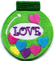 Christmas Xmas ball decoration yule love peace applique iron-on patch S-249 - £2.26 GBP