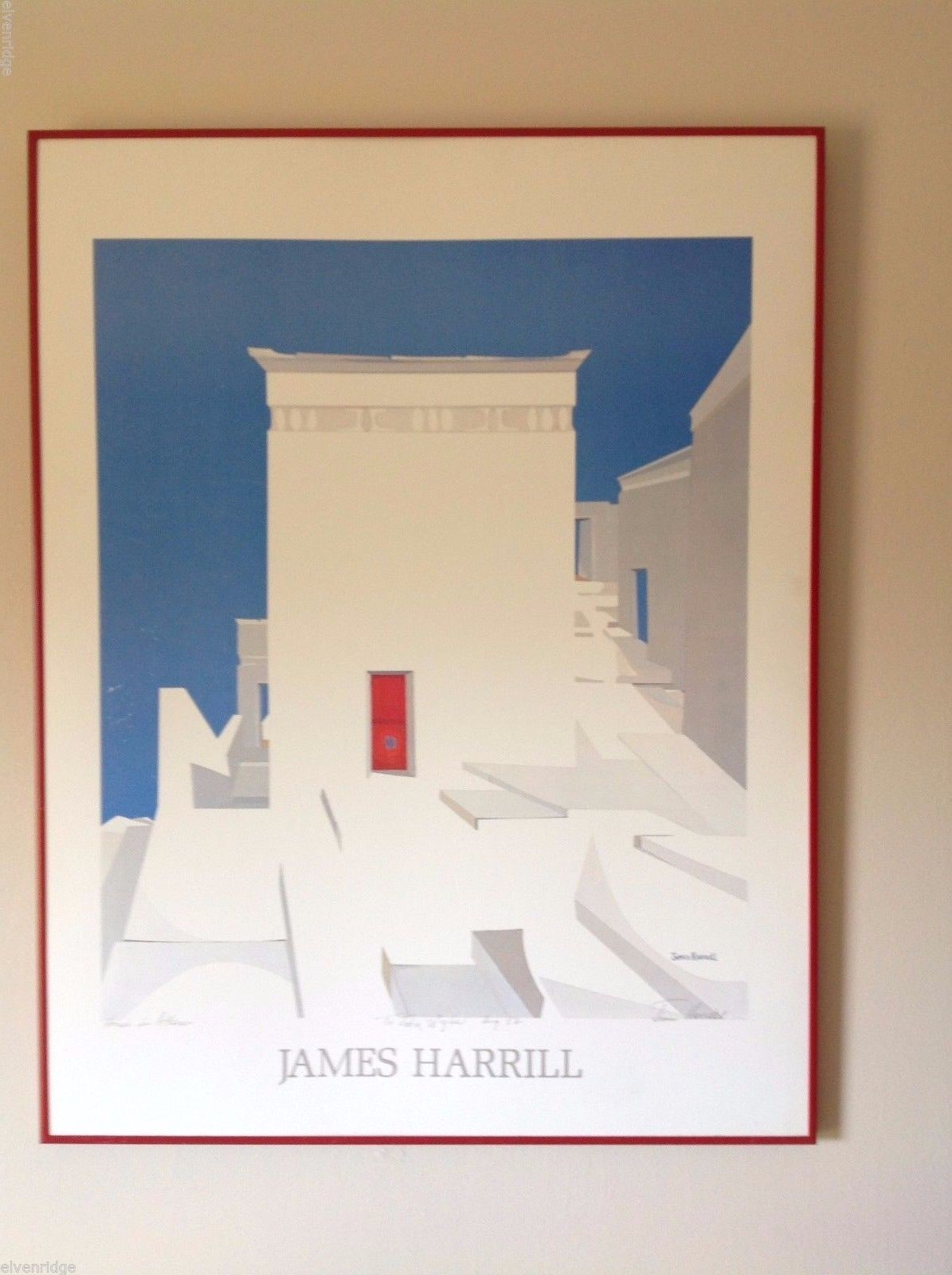 James Harrill plate Signed serigraph by artist w Dedication HOUSE IN ATHENS