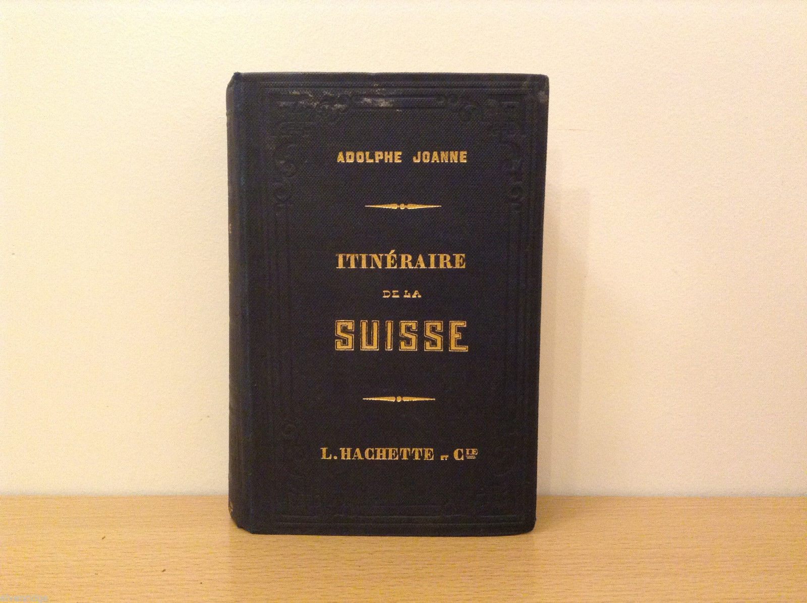 Routes of Historic Switzerland by Adolphe Joanne 1858 Paris L.Hachette Book