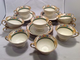 Set of 10 Tea cups and 12 Saucers from Bavaria Cottswold Dresdner Schumann