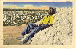 Takin A Break Curt Teich Black Americana Vintage Post Card - $5.00