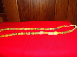Antique Hemp Strand Sand Cast African Trade Beads 1800s 46 Beads - $20.56