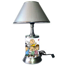 Peanuts Comic Strip Lamp with  chrome finish shade, Charlie Brown, Snoopy - $39.99