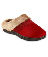 Isotoner Womens Microsuede Fur Memory Foam Hoodback Mule Clog Slipper Ho... - $32.00