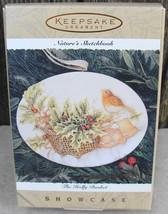 1996 Hallmark Ornament Holly Basket Nature's Sketchbook Marjolein Bastin... - $14.00