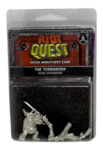 Riot Quest The Terrorizer Arena Miniatures Fighter Hero Expansion PIP 63022 NIP - $22.76
