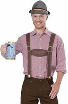 California Costumes Lederhosen Kit Hat Suspenders Oktoberfest Beer Germa... - £17.82 GBP