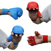 MMA Karate Gloves Grappling Close Contact Training Hook Loop Wrist Strap... - $32.45