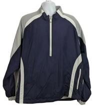 Footjoy Golf Jacket Half Zip Blue Gray Size XL Mens Windbreaker  - $39.59