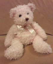 "TY CLASSIC pink shaggy SUNSET the TEDDY BEAR Stuffed Animal Plush 13"" 2004  - $23.36"