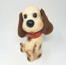 "10"" Vintage 1982 Ideal Rub A Dog Doggie Doggy Pup Creme Puppy Rubber Bath Toy - $43.53"