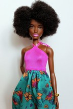 Barbie Fashionistas #59 Pink Halter Floral Skirt Afro Hair - $14.24