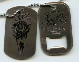 Sailor Jerry Spiced Rum Old School Tattooed Lady Dog Tag & Bottle Opener... - $11.88