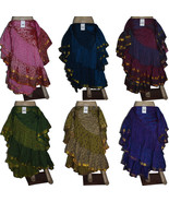 Full Circle 25 Yard Gypsy Long Belly Dance Premium Skirts - 30 Color/Prints - $49.99