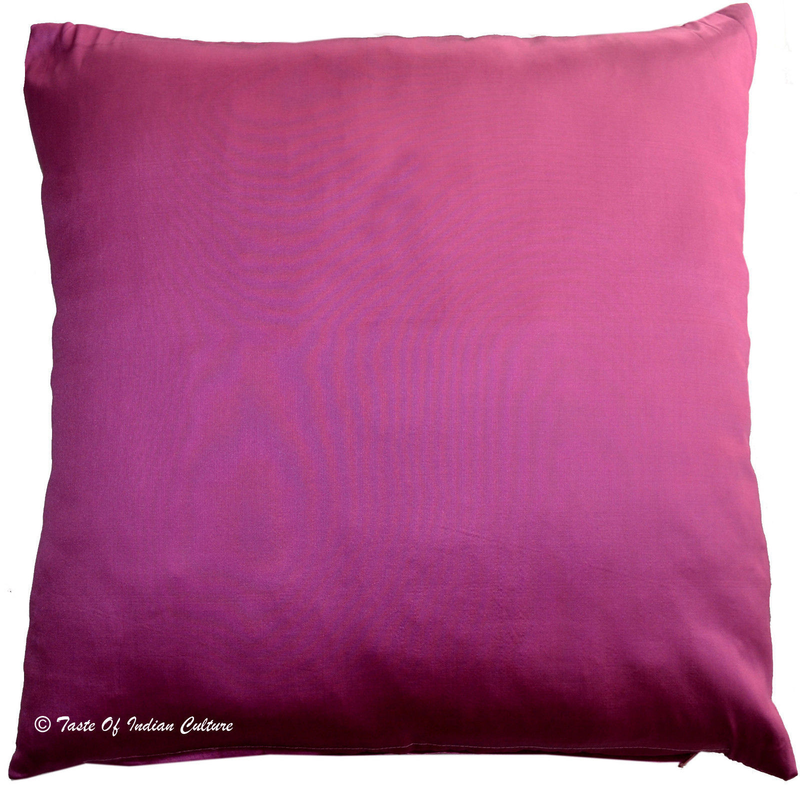 "Primary image for 20"" x 20"" Pink Cushion Pillow Cover Solid Soft Silk Sofa Throw Home Decorative"