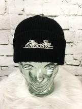Bicycle Buddies Unisex One Sz Hat Black 100% Wool Stretch Knit Beanie - $16.82