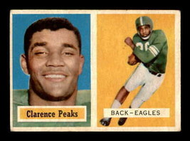 VINTAGE NFL 1957 Topps #37 Clarence Peaks RC VGEX  - $7.59