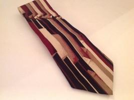 """Pierre Cardin Necktie Tie Red Tan Blue Silk 58"""" - $10.59"""