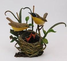 Danbury Mint  Warbler Birds on Nest Chicks Sculpture New Beginnings Bob ... - $44.55
