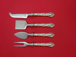 French Scroll by Alvin Sterling Silver Cheese Serving Set 4 Piece HHWS  Custom - $247.10