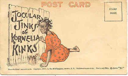 Kornelia Kinks Jocular Jinks Vintage Post Card