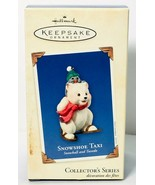 2003 Hallmark Keepsake Ornament SNOWSHOE TAXI Snowball and Tuxedo Series #3 - $21.64