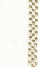 """27ct Checkers Antique White/Gold banding 4.7""""w x 36"""" (1yd)100% linen Mill Hill"""