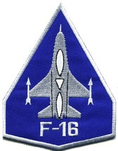 F-16 fighting falcon USAF air force jet aircraft applique iron-on patch S-618 - $2.98