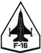 F-16 fighting falcon USAF air force jet aircraft applique iron-on patch S-689 - $2.98