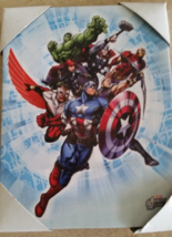Marvel Avengers Group With A Burst Wall Decor Picture Wall Hanging , New - $14.99