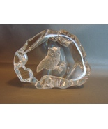 CRYSTAL OWL PAPERWEIGHT  - $16.00